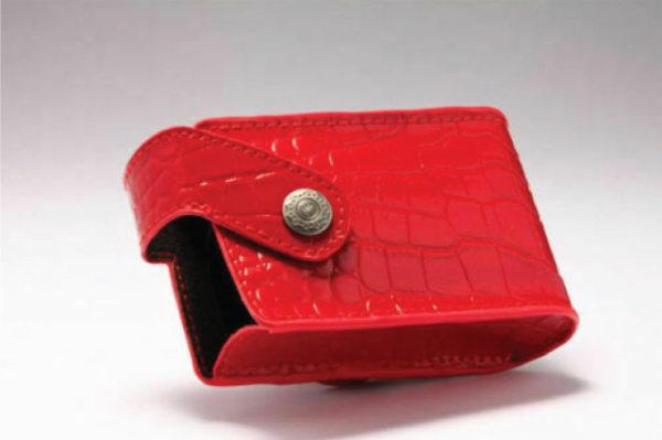 Suvremena kožna torbica za žene crvena
